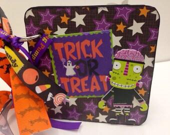 Halloween brag book premade pages coaster album scrapbook