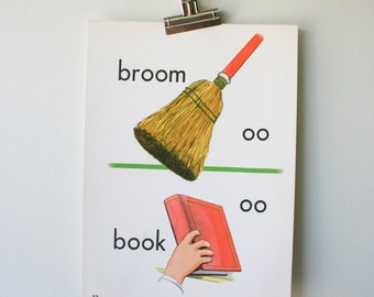 Vintage School Poster of Broom/Book