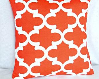 OUTDOOR Red/Coral Pillow Moroccan Pillow Decorative Throw Cushion Cover Beach Coastal Pillows for Couch ALL SIZES Moroccan Sofa Patio
