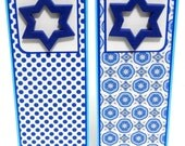 Hanukkah Bookmarks 3D- Preppy: Set of 2- approx. 2 1/2 x 7 inches