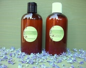 Organic Shampoo + Conditioner Set - 8 oz each - VEGAN - Natural - Handmade