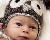 Custom Order Owl Hat for Sarah