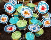 Under the Sea Cupcake Toppers Small Party Circles Printable - Cupcake Topppers, Favor Tags - Under the Sea Collection