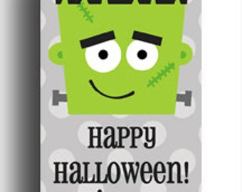 Boy's Halloween Party Treat Tags Printable