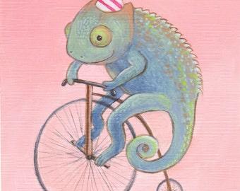Christopher Chameleon Print 5x7 by Megumi Lemons