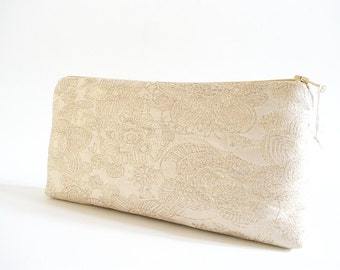Set of 6 Gold Wedding Clutches, Thank You Bridesmaids Bags, Silk Gold Purses, Bachelorette Party Gifts