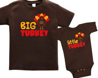 Personalized Thanksgiving matching sibling shirts for kids - any name - pick your colors!