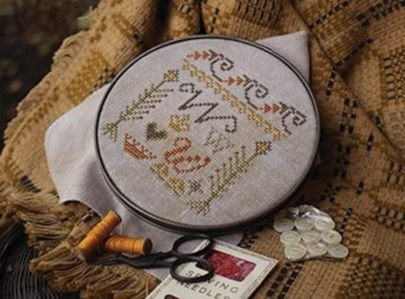 cross stitch patterns : Fragments in Time #4 Summer House Stitch Workes sampler counted hand embroidery