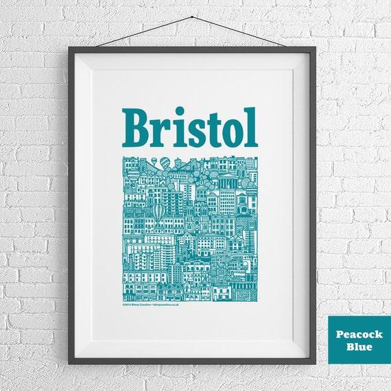 Bristol Harbour Illustrated Screenprint