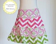 Sophia Tiered Ruffle Skirt Pattern Sizes 12M through 16