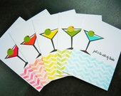 Martini Thank You Cards Set of 5