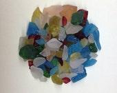 UNIQUE 6 COLOR Beach/Sea Glass - Crafty Ready- Multi-Color Beach/Sea Glass