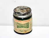 Vintage Green Glass Jar -- Musterole -- Made in USA