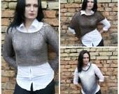 Knitting Pattern pdf, Free Knitting Pattern, Knitting Pattern Sweater, Crop Sweater, Mohair Sweater