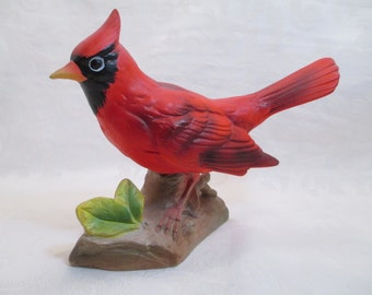 Vintage Cardinal Figurine - Bobble Red Bird - Made in Japan