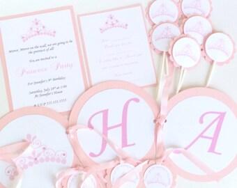 Princess Tiara Birthday Party Package, Princess Themed Party, Royal Princess Birthday, Royal Celebration, Princess Birthday Party