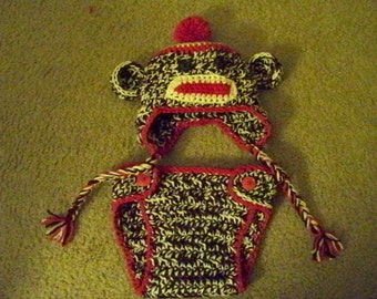 Sock Monkey Baby Set