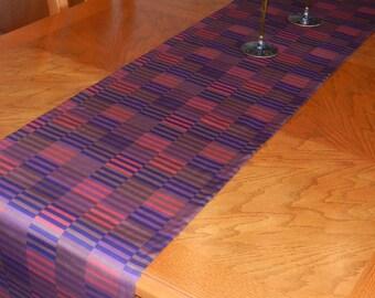 Marimekko Table Runner Hirsi print, 15 x 60+ inches, Purple, Brown, Pink Wedding Decor, Shower,  Kitchen, Dining Table Runner
