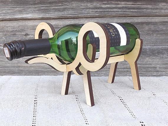 Unavailable listing on etsy - Elephant wine bottle holder ...