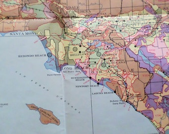 1950 So. California Land Use Map - large lithograph