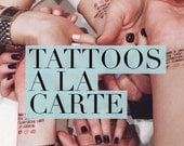 A La Carte Bachelorette Tattoos, Buy Me A Drink & Bride Tattoo - Custom