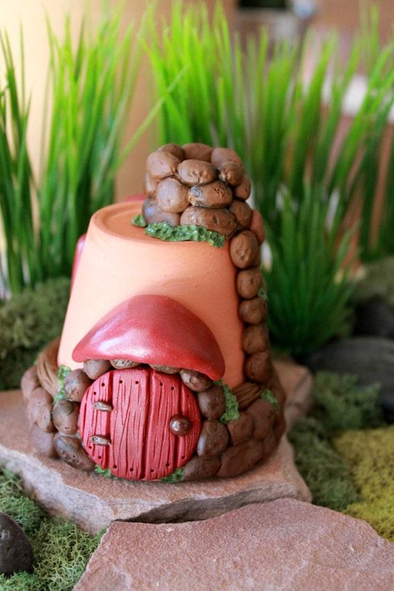 Gnome Garden: Fairy House Or Gnome Home Polymer Clay Terrarium Accessory