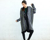 Winter sale Knitted Poncho - Green.