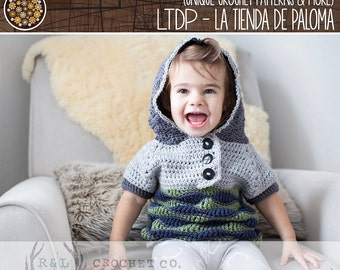 Crochet Sweater Pattern Baby to Child - Waves Sweater Pattern - Sweater Pattern