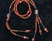 JUZU  BEADS - Red Jasper and Picture Jasper