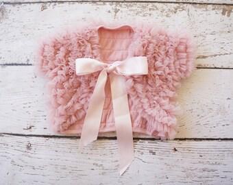baby shrug, girls jacket, baby jacket, girls shrug, shrugs, girls cardigan, blush, pink, baby, jacket, baby poncho, girls vest, baby vest
