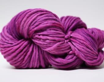 Single Ply Yarn Merino Slub Hand Dyed 44sp14002 Pink Tourmaline