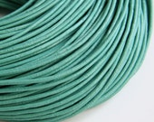 Turquoise Leather Cord, Leather Cord Greek leather cord 2mm 1m- 1 yard S 40 110