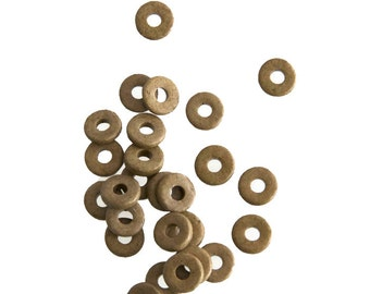 15% OFF 30 pcs Ceramic Greek Beads, Brown Mykonos Beads, Brown Disc Washer - 8mm  C 10 322