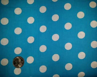 Lots of Dots Turquoise Blue Choice Fabrics Cotton dot