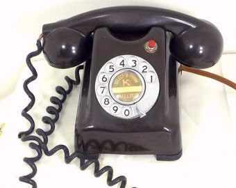 RARE Kellogg 1000 Series/Select-O-Phone/Walnut Bakelite/ Red Bar/ Working/1940s