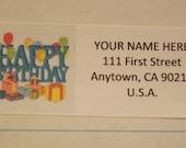 Happy Birthday Return Address Label