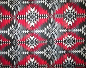 Tradional Navajo Red Black Grey Cotton Fabric Fat Quarter or Custom Listing