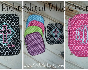 Quatrefoil Monogrammed Bible Covers