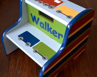 Train Step Stool, Children's Step Stool