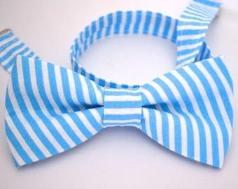 Bowtie- Blue and White Stripe