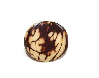 Tagua-Nut Ring (Size 6), Boho Ring