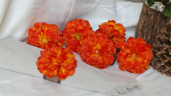 Bridal Shower Decor,  Napkin Rings, Orange Floral,  Fall Wedding Decor, Bachelorette Party, Bridal Shower, 6