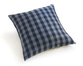 "Buffalo Check Plaid Slate Grey 24"" Pillow"