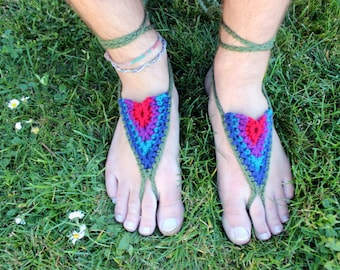 Barefoot Sandals - Jewel Tones - Earthing Grounding Sandals