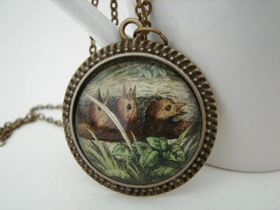 Baby Birds Pendant with Free Necklace