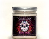 Soy candle, soy candles handmade, soy wax candle, scented soy candles, hand poured soy candles, Sugar Skull candle, day of the dead candle