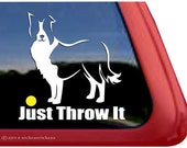 Just Throw It | DC470SP5 | High Quality Border Collie Window Decal Sticker