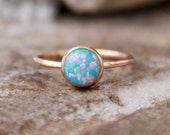 GOLD OPAL Ring- Opal Stacking ring ~8mm Opal ring - Gold Filled - opal ring - 15 DIFFERENT opals choose your opal - stacking gemstone ring