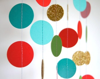 Multicolor Garland, Bridal Shower, Baby Shower, Party Decorations, Birthday Decor
