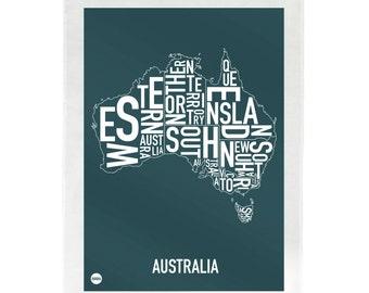 Australia Type Tea Towel